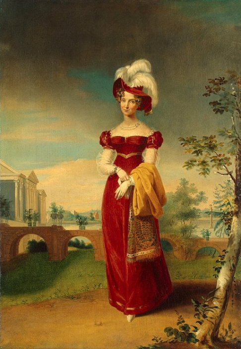 Portrait-of-Empress-Elizabeth-Alexyevna-in-the-Park-of-Tsarskoye-Selo